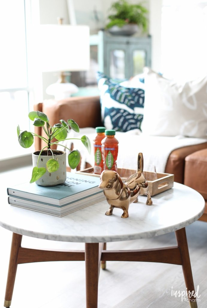 Simple Coffee Table Styling Ideas to add style to your living room decor | Inspired by Charm