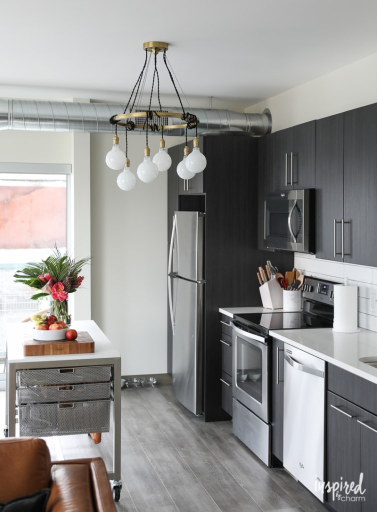 Updated Apartment Lighting - unique and stylish chandeliers to decorate your apartment   Inspired by Charm