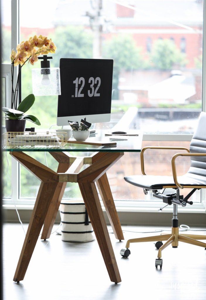 Tips and Decorating Ideas for Creating a Home Office - modern industrial style | Inspired by Charm