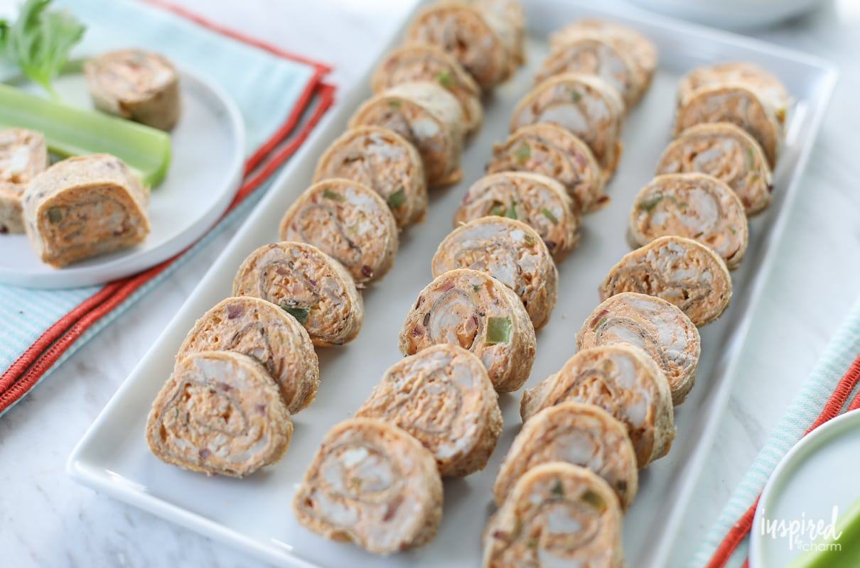 Buffalo Chicken Roll-Ups: An easy appetizer recipe for any party or celebration. | Inspired by Charm