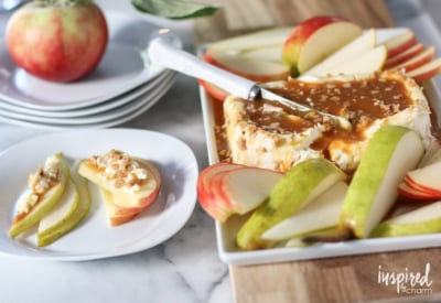 Caramel Apple Cream Cheese Spread - Favorite Fall Recipes | Inspired by Charm
