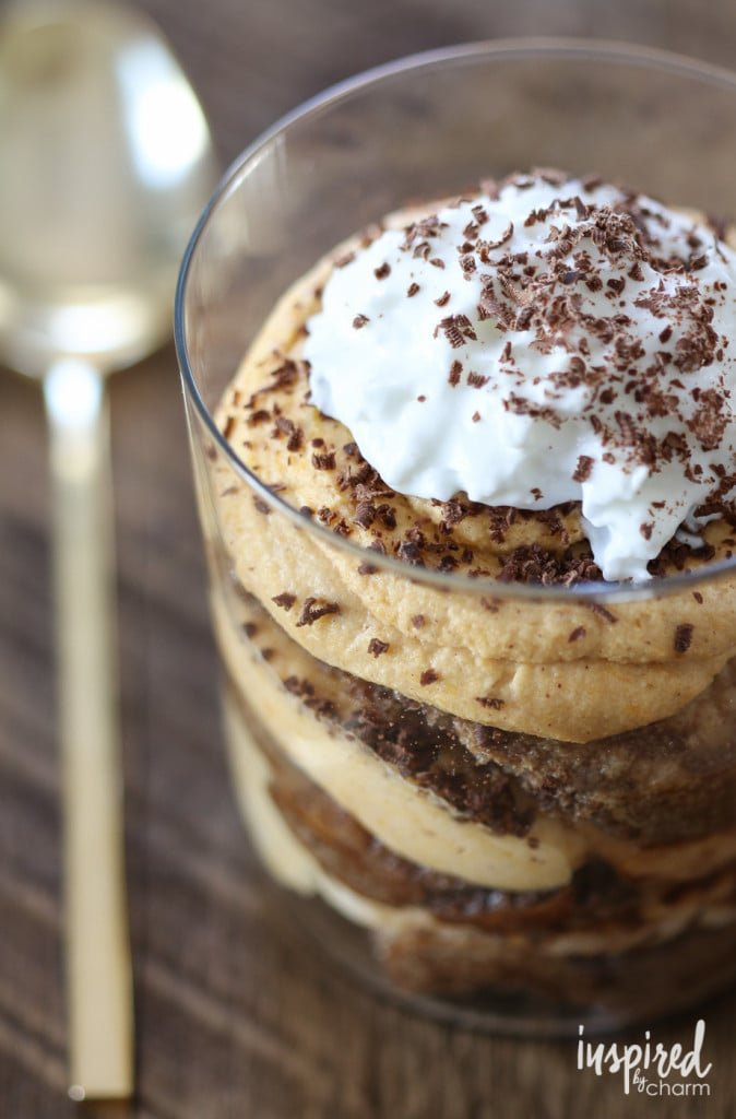 Pumpkin Tiramisu - Favorite Fall Recipes | Inspired by Charm