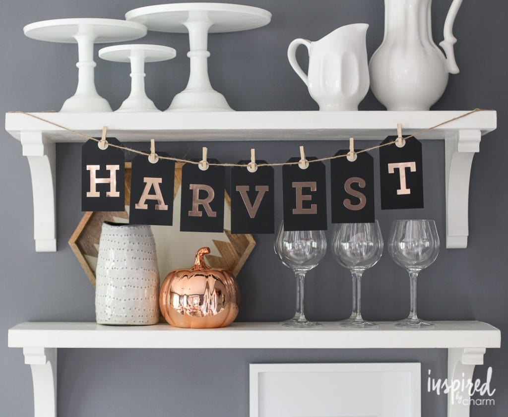 DIY Fall Tag Banner - Favorite Fall Decor Ideas | Inspired by Charm