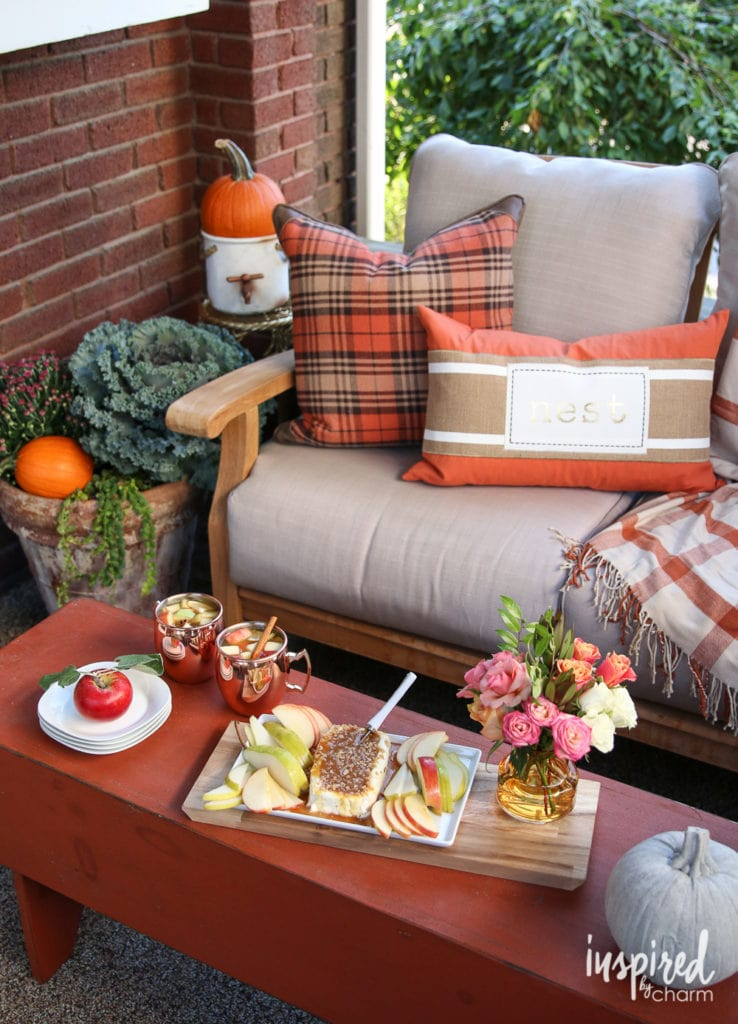 Fall Porch Patio Decor Ideas - Favorite Fall Decor Ideas | Inspired by Charm
