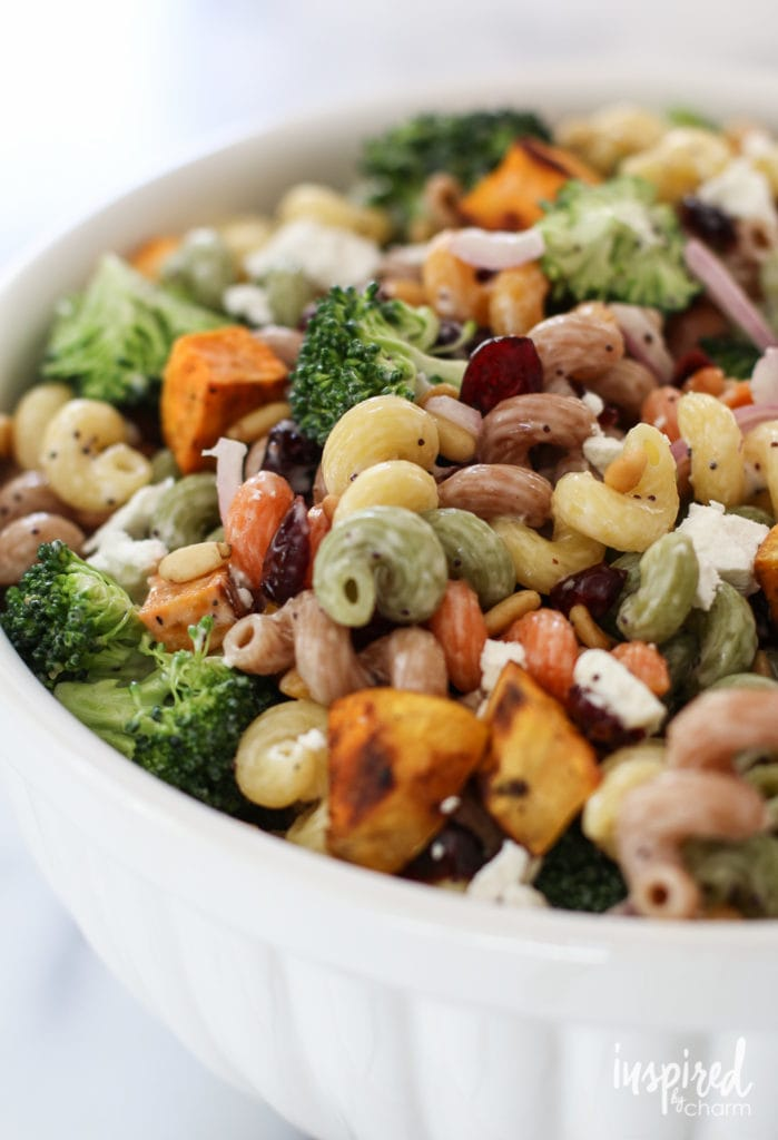Fall Harvest Pasta Salad - Favorite Fall Recipes | Inspired by Charm