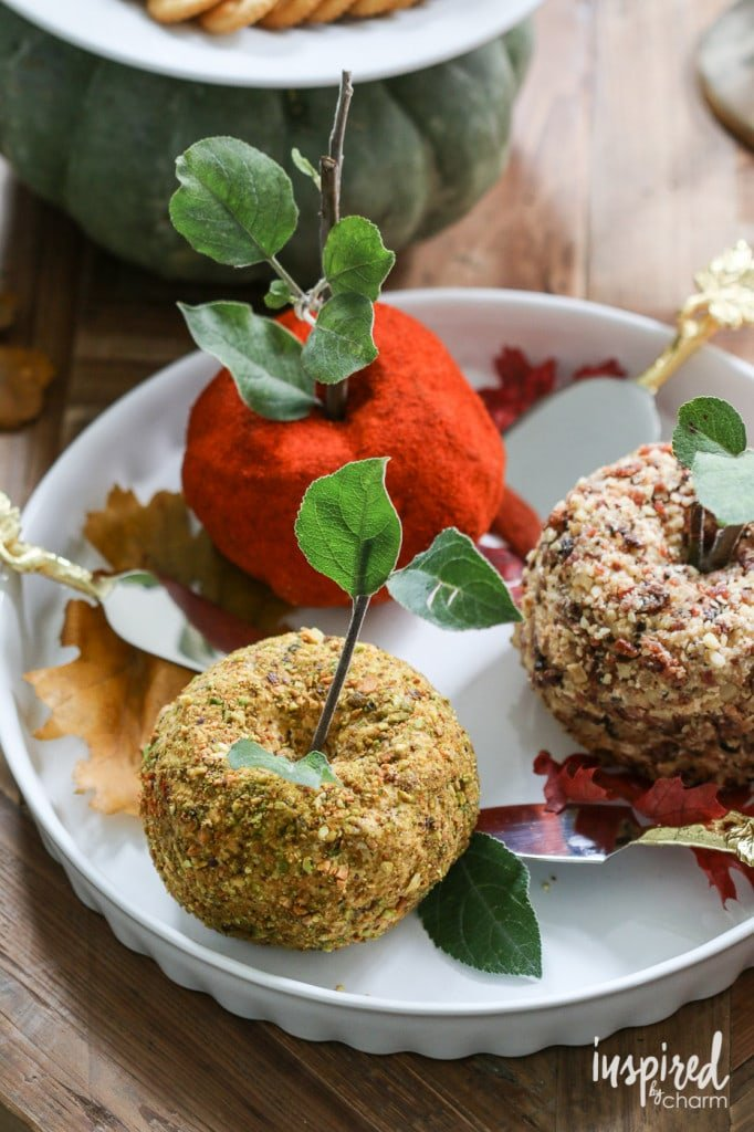 Fall Apple Cheese Balls - Favorite Fall Recipes | Inspired by Charm
