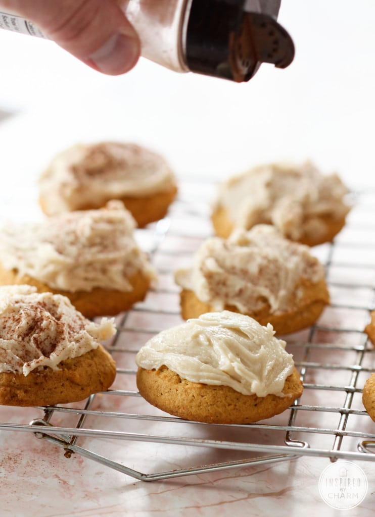 Frosted Pumpkin Cookies - Favorite Fall Recipes | Inspired by Charm