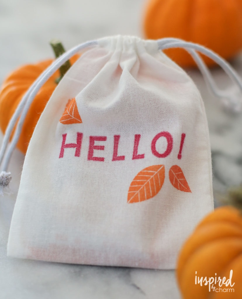 Fall Stamped Treat Bag - Favorite Fall Decor Ideas | Inspired by Charm
