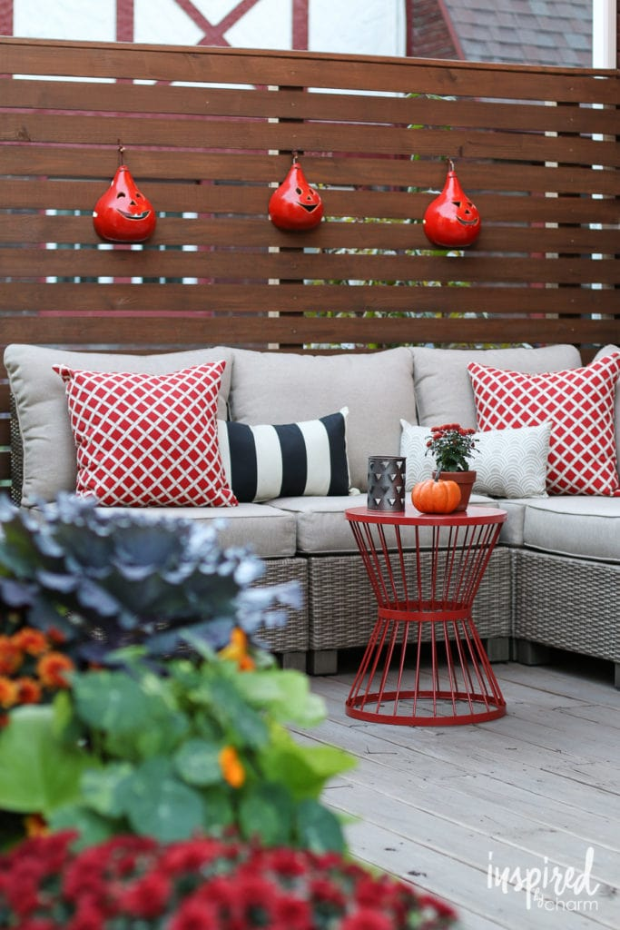 Fall Outdoor Decor Ideas - Deck / Porch Decorating  - Favorite Fall Decor Ideas | Inspired by Charm