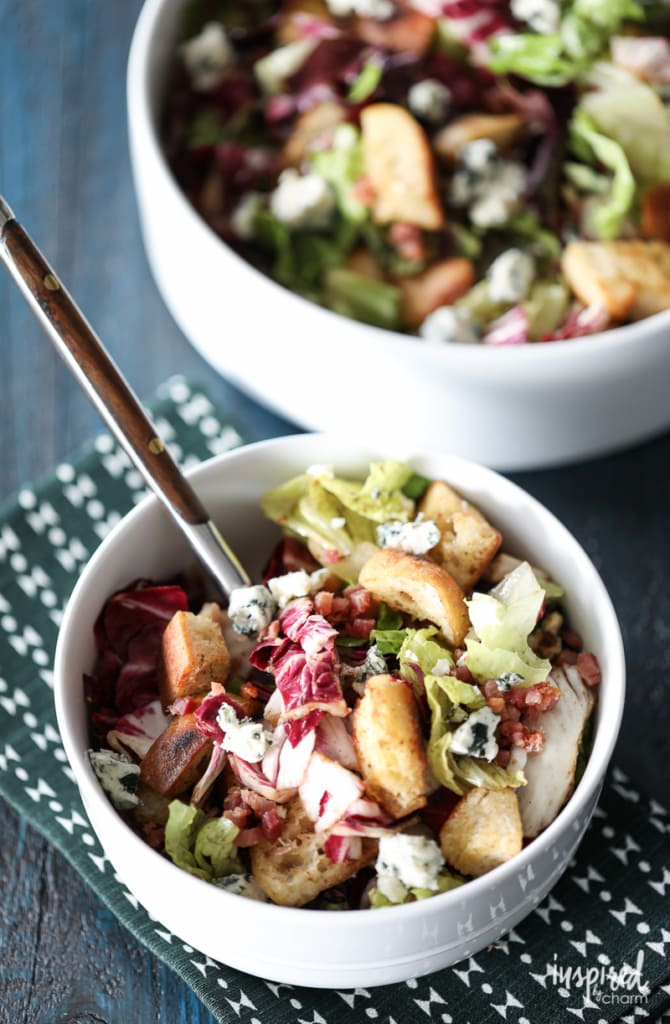 Radicchio and Blue Cheese Bread Salad is the salad to complement a late-summer or fall dinner.
