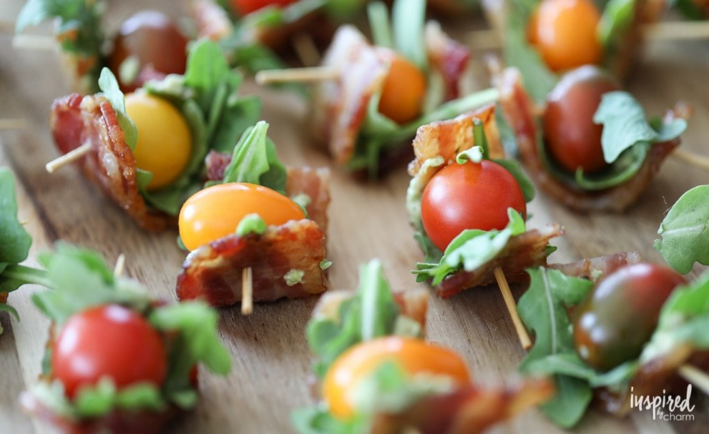 These Avocado-Pesto BLT Bites make the perfect appetizer for any party.