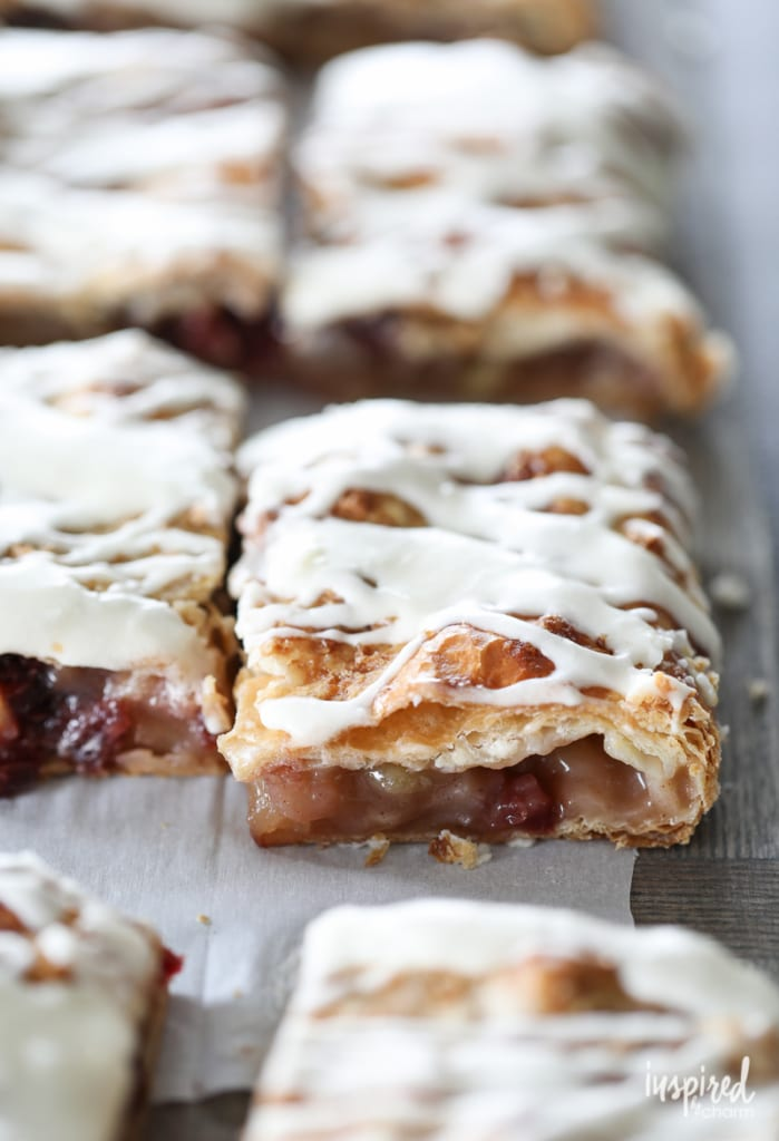 This Apple Cranberry Slab Pie is the perfect fall dessert. It's easy to make and the flavor combination is delicious.