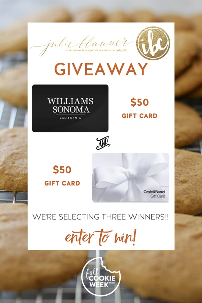 Enter to Win the Fall Cookie Week Giveaway | Inspired by Charm
