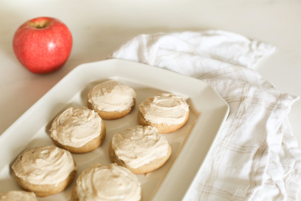 Frosted Apple Butter Cookies - fall cookie week fall baking