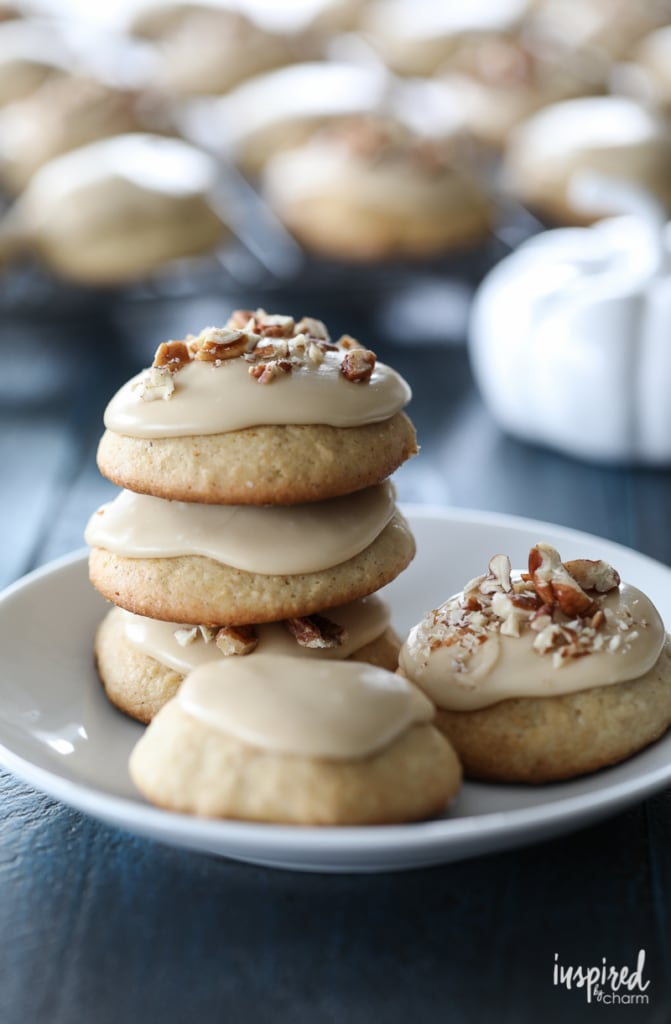 Frosted Apple Cider Cookies dessert recipe #FallCookieWeek