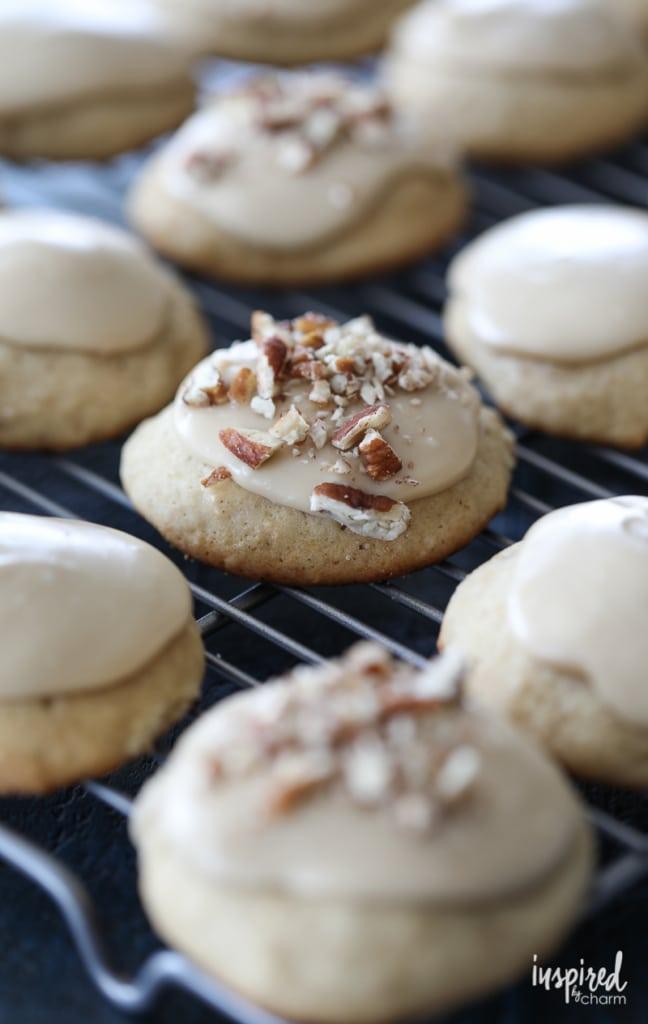 Frosted Apple Cider Cookies dessert recipe #FallCookieWeek