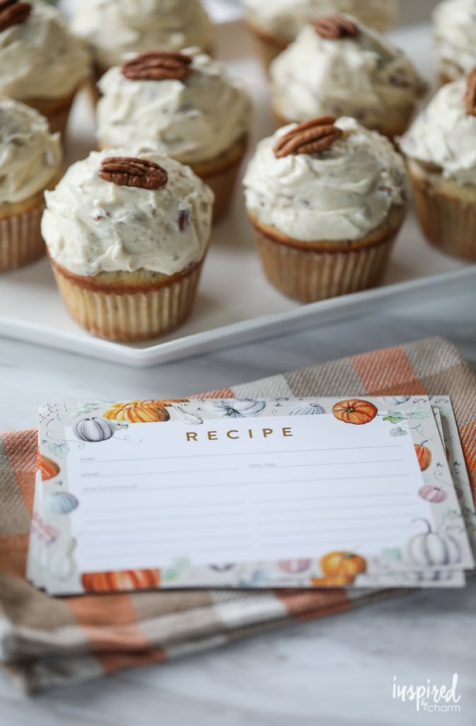 2017 Fall Pumpkin-Inspired Recipe Card Free Printable   Inspired by Charm