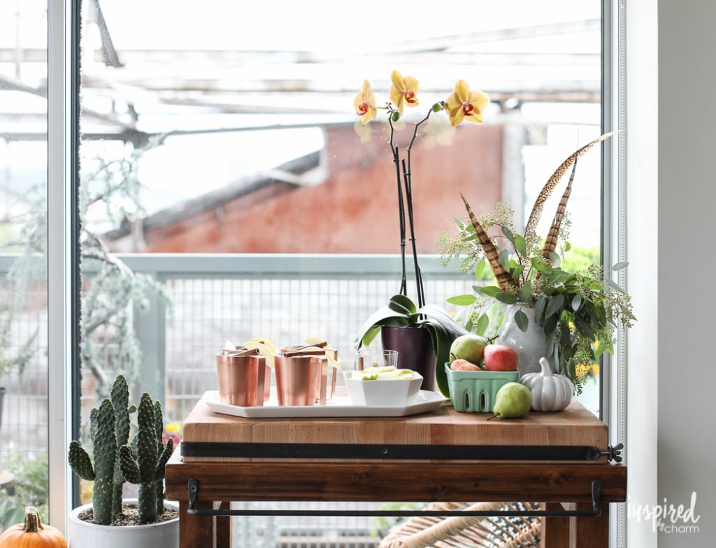 Festive home decor ideas and delicious recipes for Fall Entertaining in the Kitchen | Inspired by Charm