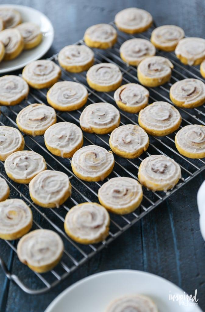These Pumpkin Cinnamon Roll Cookies will add seasonal flavor and fun to your fall baking.