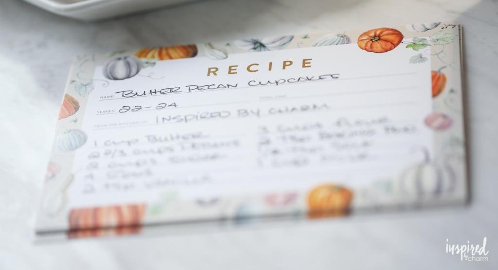 Fall Pumpkin-Inspired Recipe Card Free Printable #printable #recipecard #fall #pumpkin #recipe #card #printables