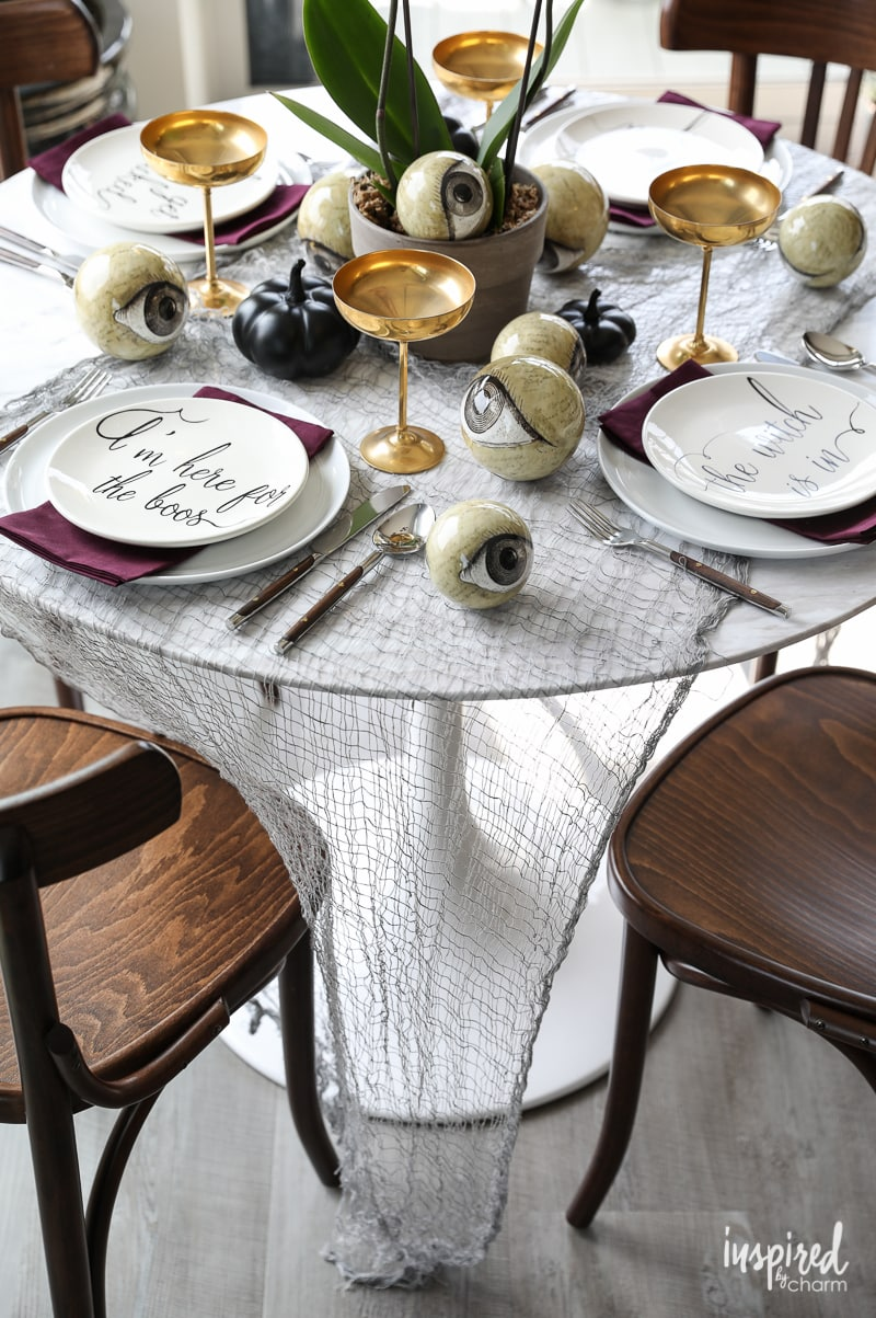 Wicked And Eclectic Halloween Table Setting   Spooky Chic Tablescape Decor  Ideas