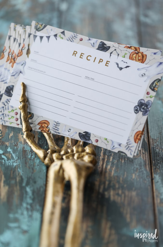Free Halloween Recipe Card Printable download #halloween #recipecard #printable