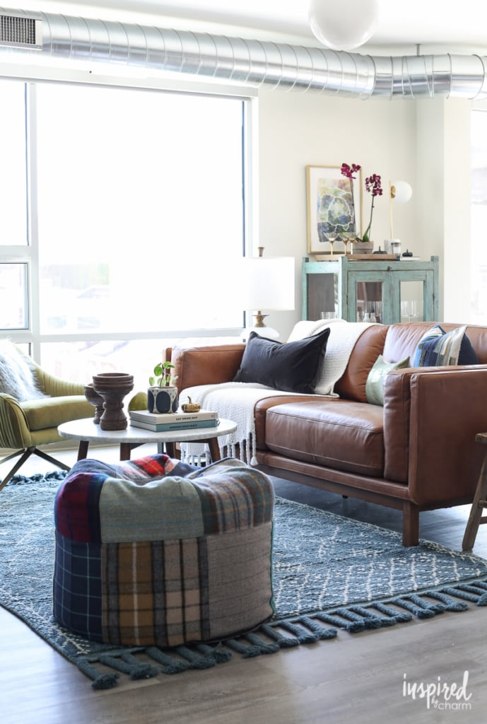 Choosing a Rug For My Apartment Living Room - modern loft apartment decor