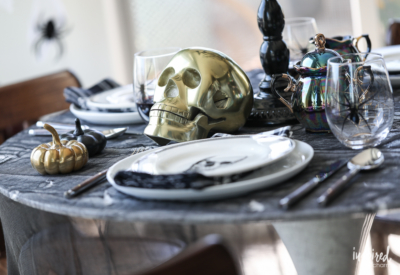 Haunted Halloween Entertaining Decor Ideas for adding spooky chic style to your dining room.