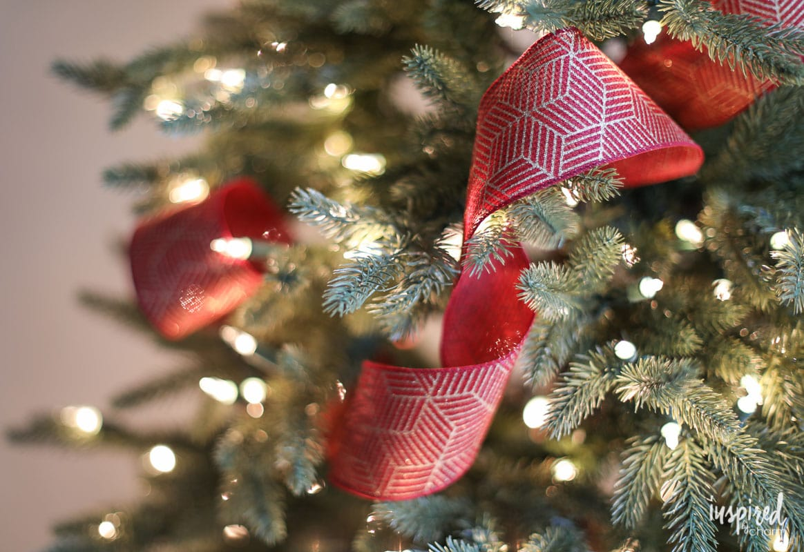 Christmas Tree Ribbon Tutorial - How to Add Ribbon to Your Tree