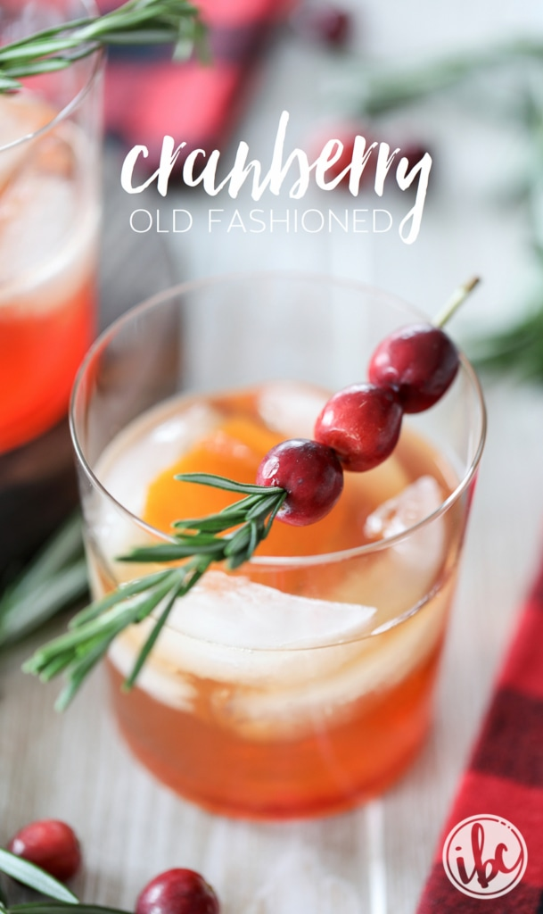 Cranberry Old Fashioned cocktail recipe for holiday entertaining