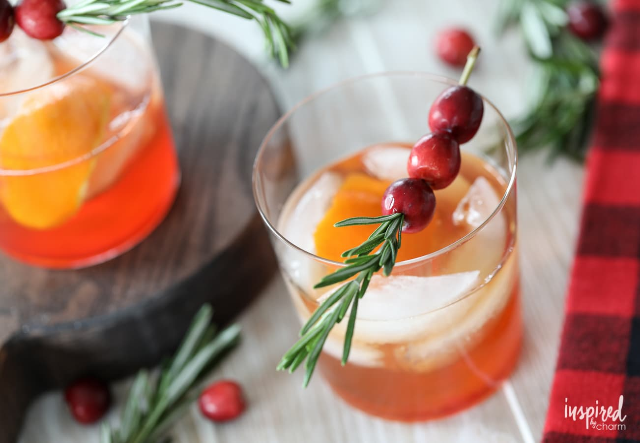 Cranberry Old Fashioned Cocktail Recipe