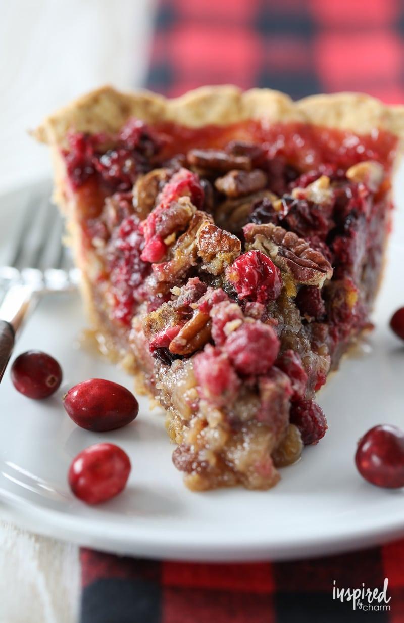 How to make Cranberry Pecan Pie #cranberry #pecan #pie #dessert #recipe #christmas #holiday #thanksgiving