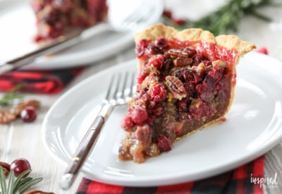 Cranberry Pecan Pie holiday dessert recipe