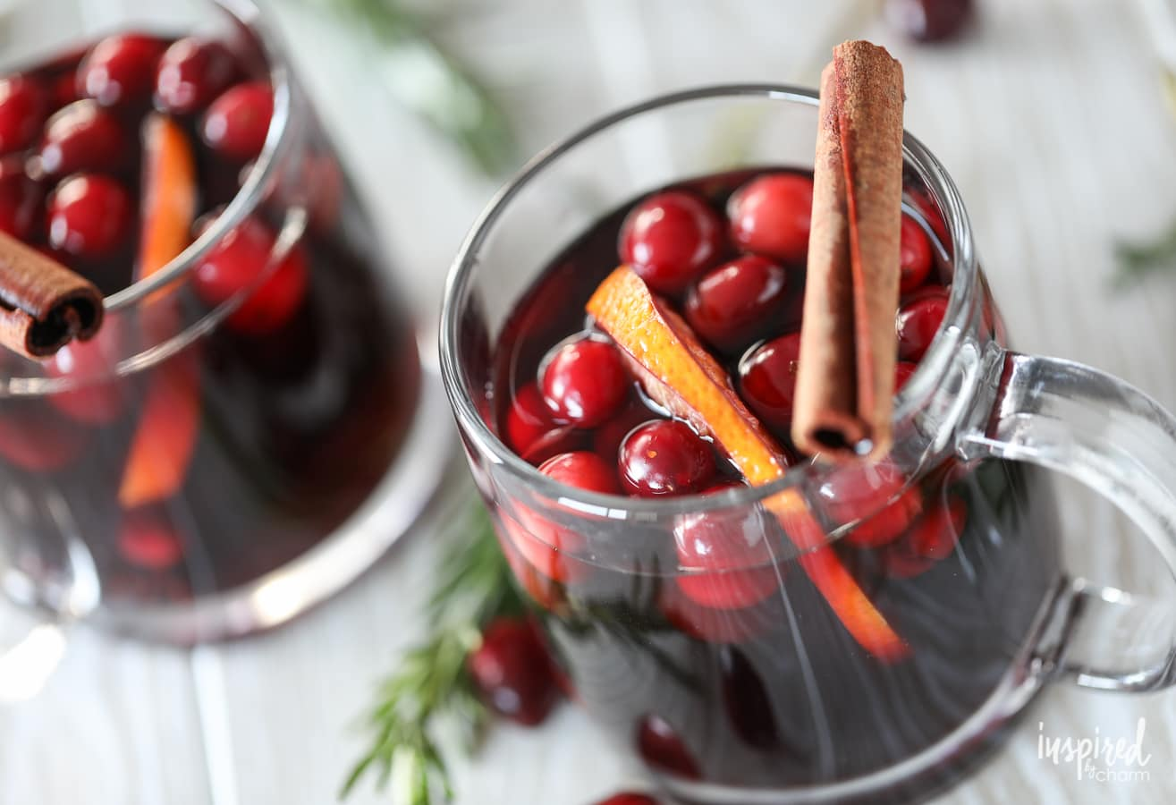 This Warm Sangria made in a Crock-Pot is perfect for Thanksgiving