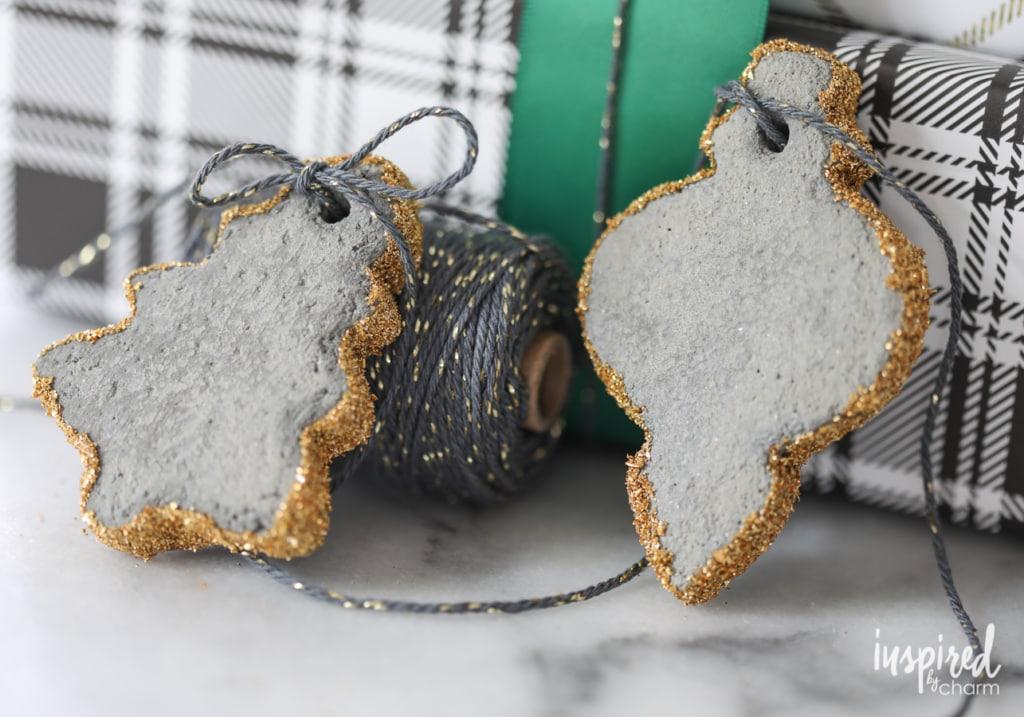 DIY Modern Concrete Christmas Tree Decorations