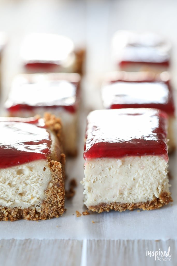 Peanut Butter and Jelly Cheesecake Bars