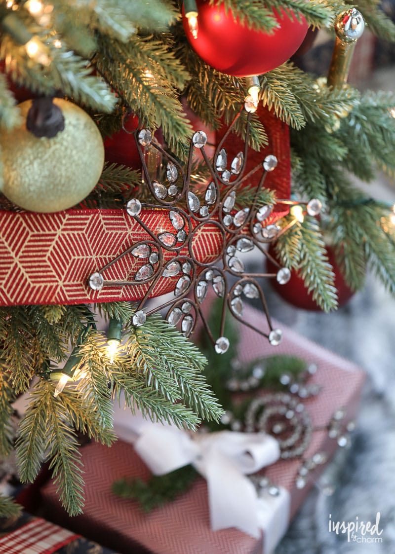 Antique Snowflake Ornament for Rustic Modern Christmas Tree