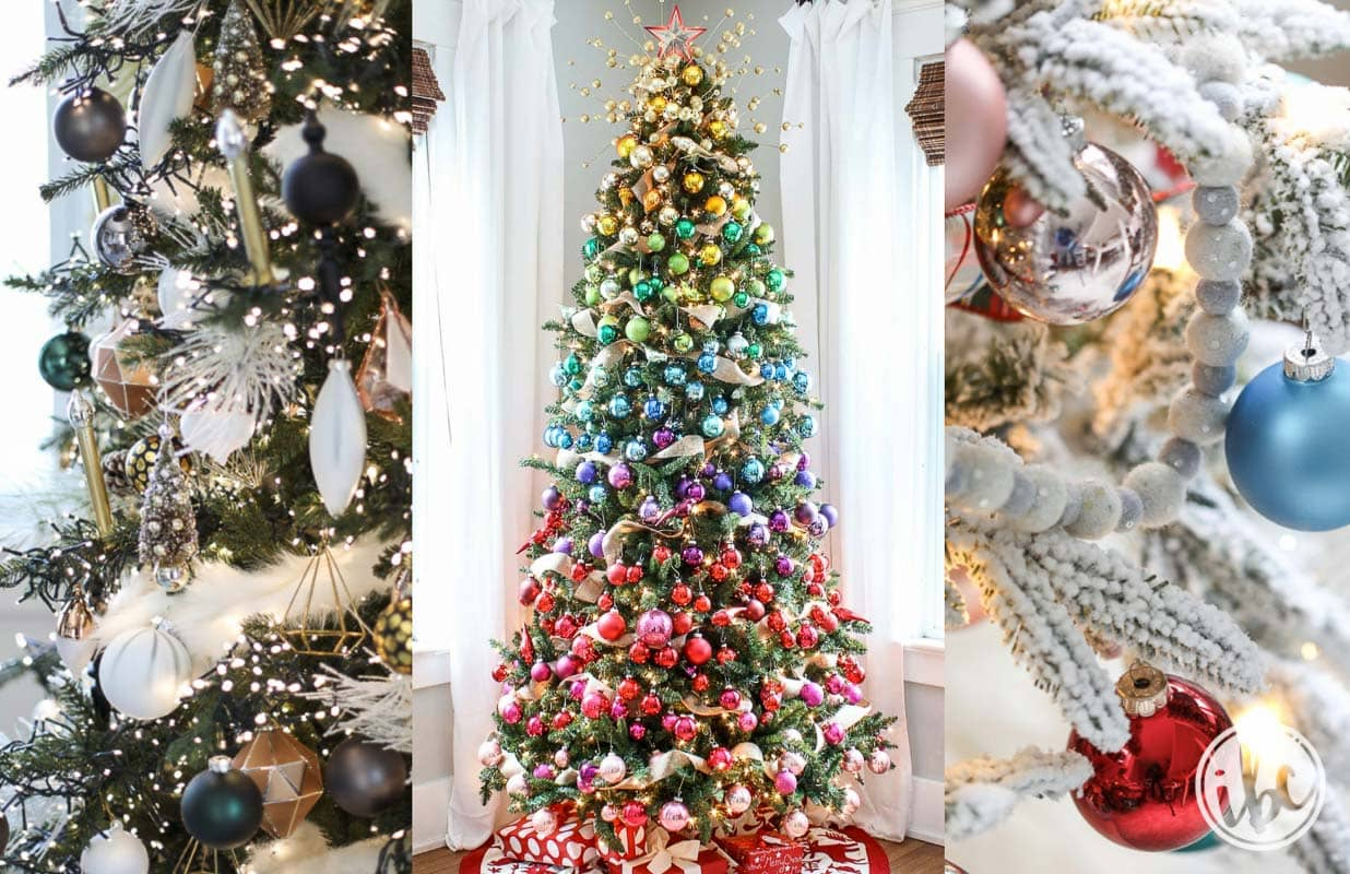 20+ Ideas for Beautiful and Festive Christmas Tree Decorations 3aba81eab