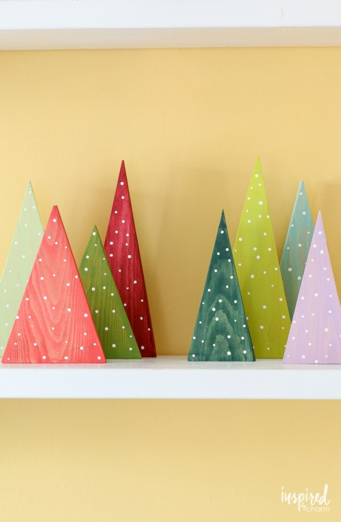 A Colorful DIY Forest for Christmas Decorating