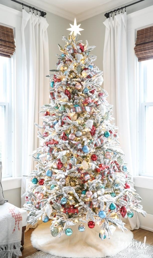 Flocked Christmas Tree Decorations