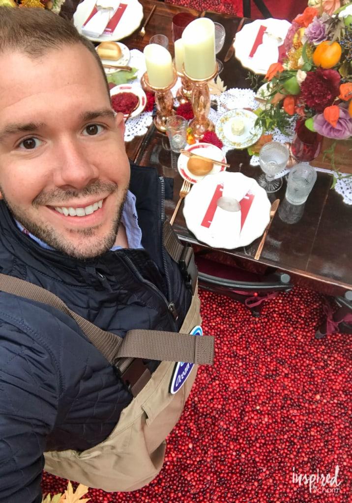 Michael Wurm Jr in a cranberry bog