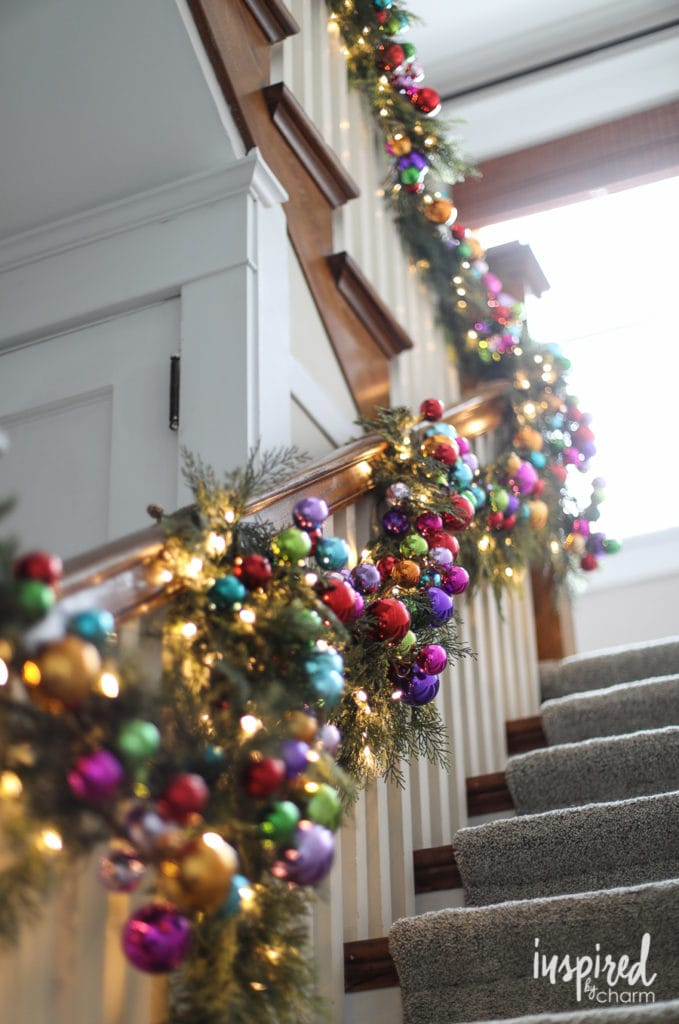 rainbow christmas tree decorations garland