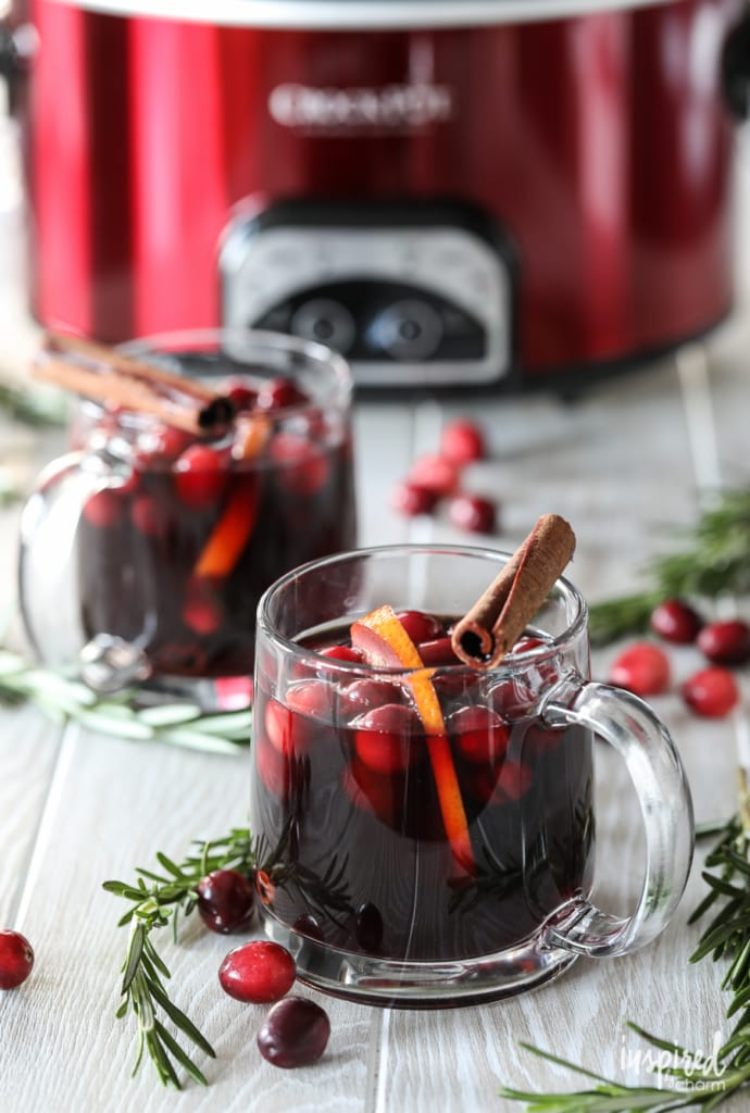 This Warm Cranberry Thanksgiving Sangria perfect for entertaining in the fall.