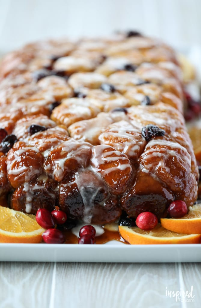 This Cranberry Orange Monkey Bread recipe is the perfect holiday dessert.