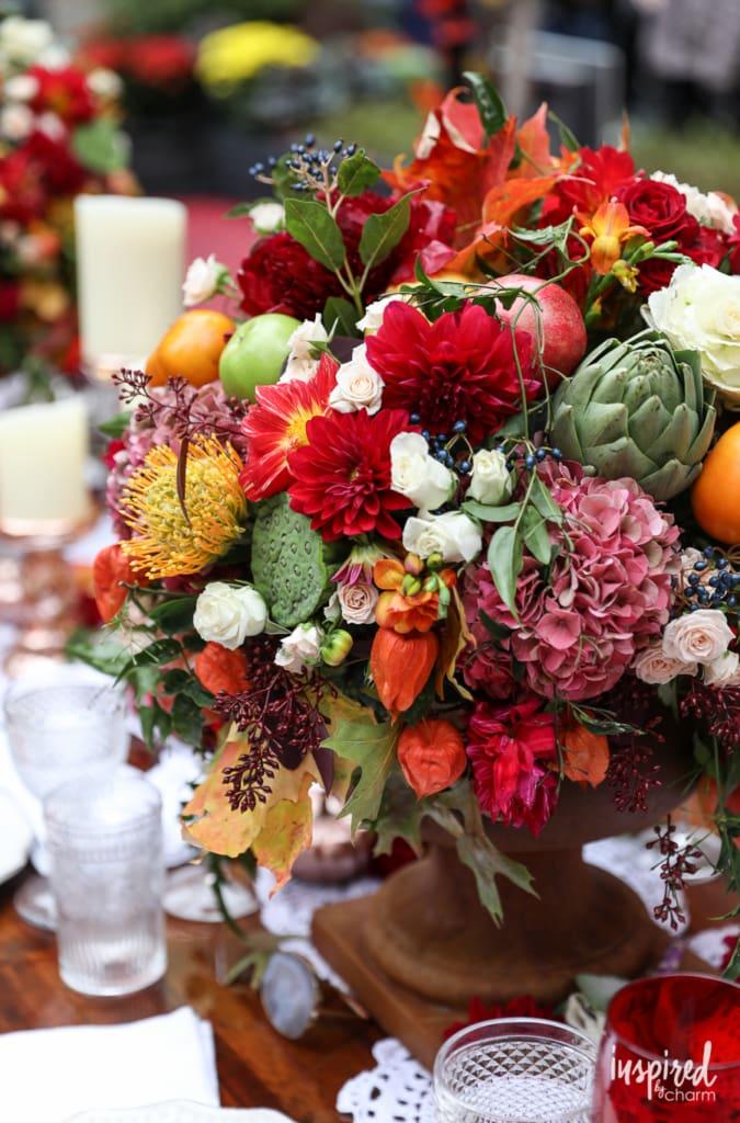 Thankskgiving flower centerpiece
