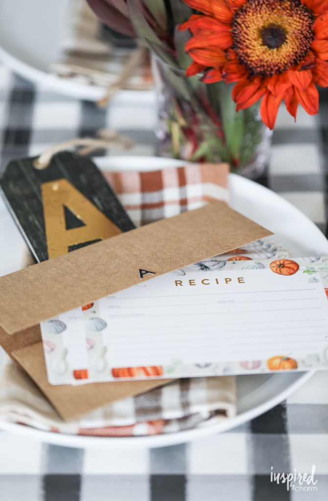 Free printable recipe cards for Friendsgiving