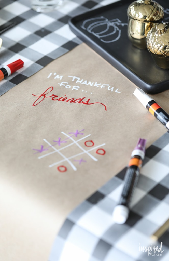 Paper tablecloth for Friendsgiving
