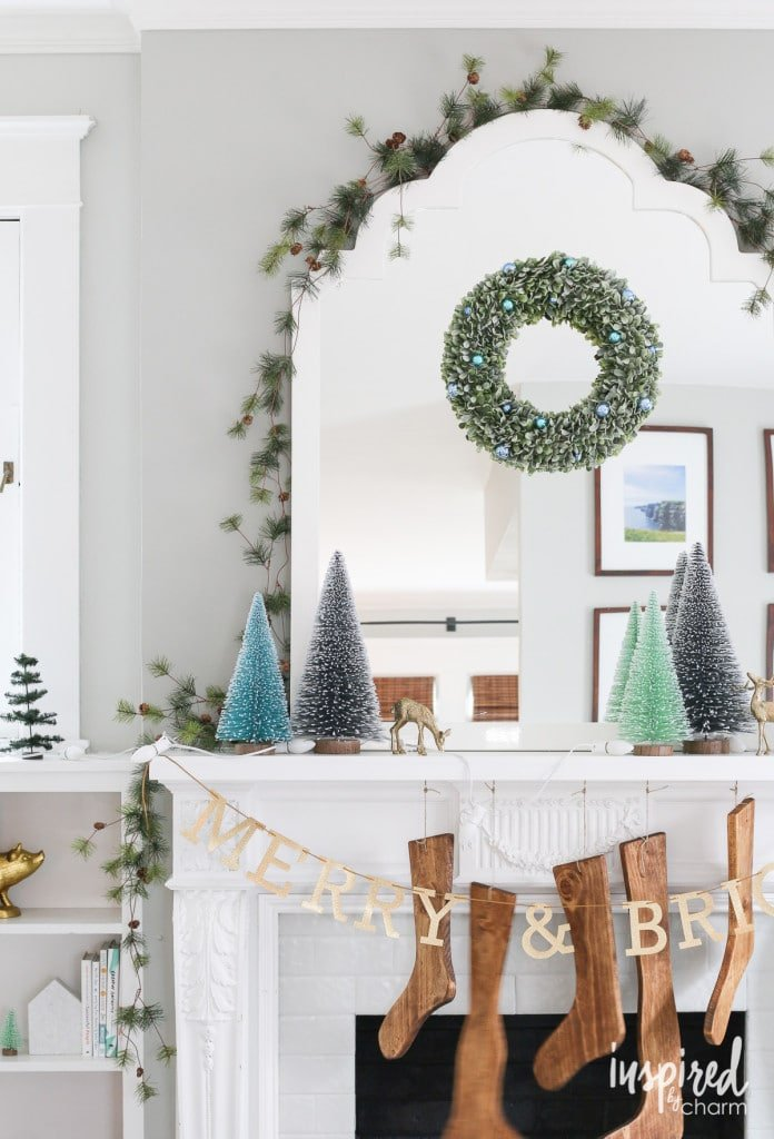 How to Style a Mantel for Christmas