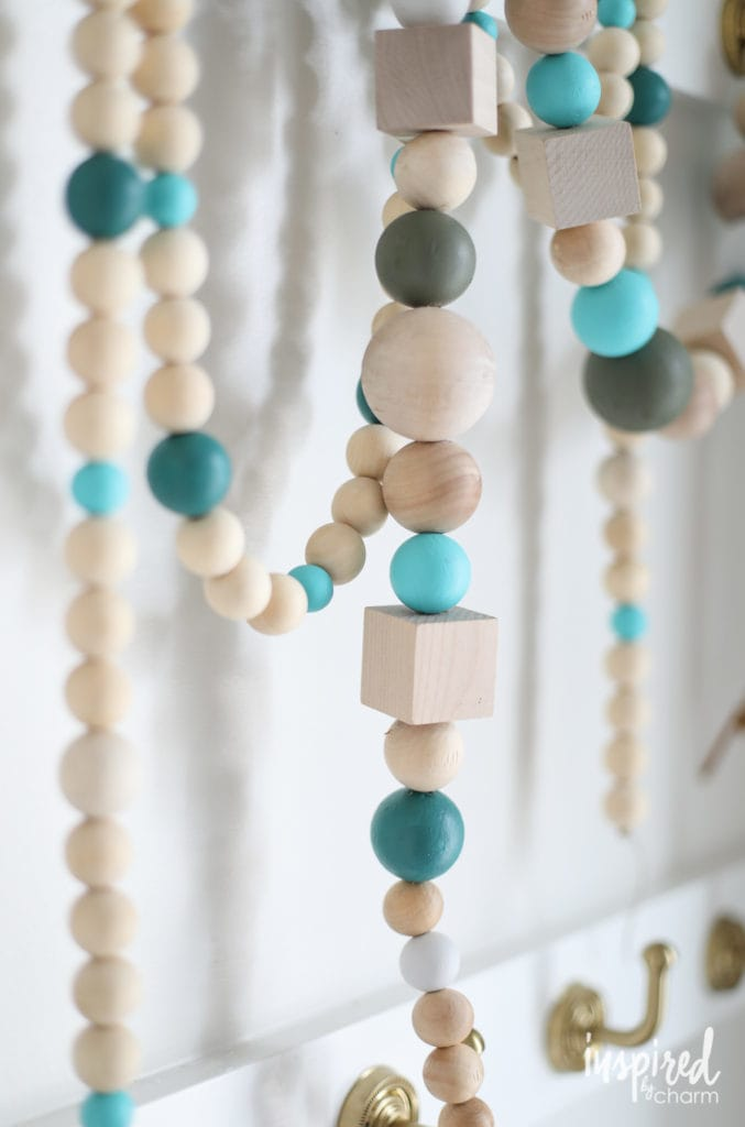 Wood Bead Garland for Christmas
