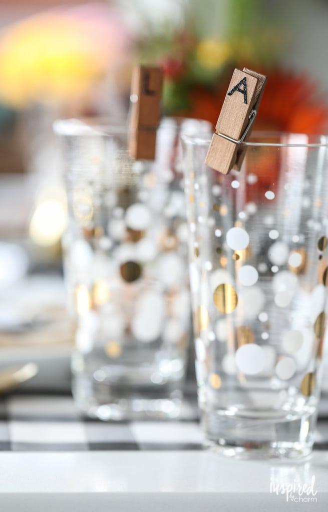 DIY Wine Glass Charms - Friendsgiving Ideas